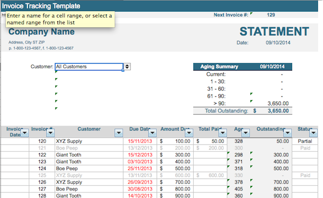 Simple Store Sales Tracking Invoice Template Excel - Free Templates ...