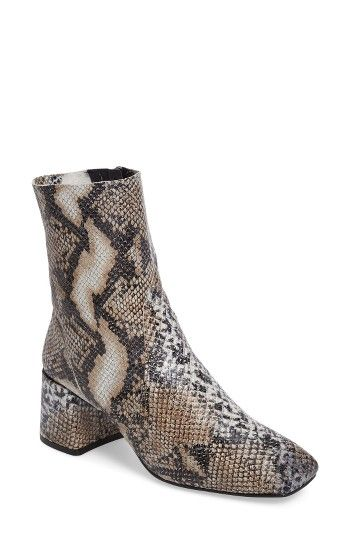911d7b20e84 Free shipping and returns on Topshop Max Snake Embossed Bootie (Women) at  Nordstrom.com. An embossed-snakeskin print adds an exotic vibe to a  retro-inspired ...