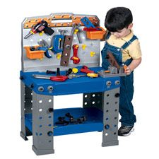 Workbench And Accessory Set Constructive Playthings Parent Family Workbench Kids Play Set Toys