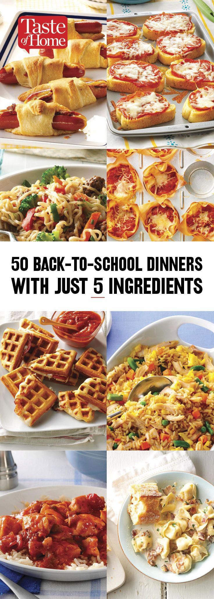 50 Back-to-School Dinners with Just 5 Ingredients images