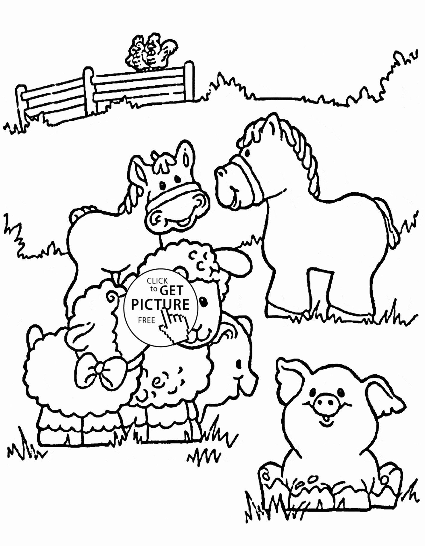 Coloring Cartoons Peppa Pig Unique Coloring Pages For Kids Best Vases Flower Vase Coloring Page In 2020 Farm Coloring Pages Animal Coloring Pages Horse Coloring Pages