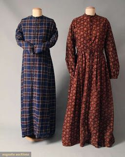 Two mid 19th century maternity gowns c. 1850-1865.  Images courtesy Augusta Auctions.