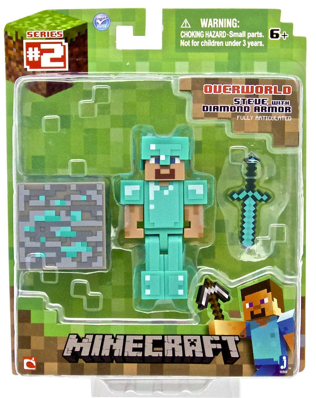 Amazon.com: Minecraft Diamond Steve Action Figure: Toys & Games