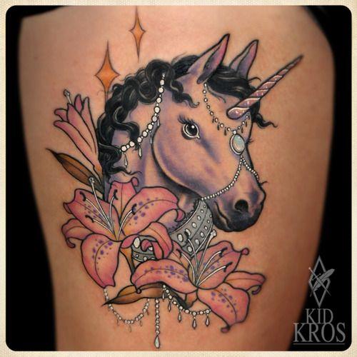 Fancy Unicorn Tattoo Dream Come True Unicorn Tattoo Designs Unicorn Tattoos Girly Tattoos