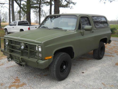 1985 Chevy Military Blazer Cucv M1009 Super Nice Hunting