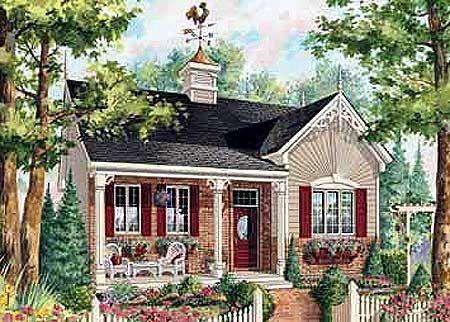 Plan 80705pm Cozy Cottage Craftsman House Plans Cottage Floor Plans Cottage Plan