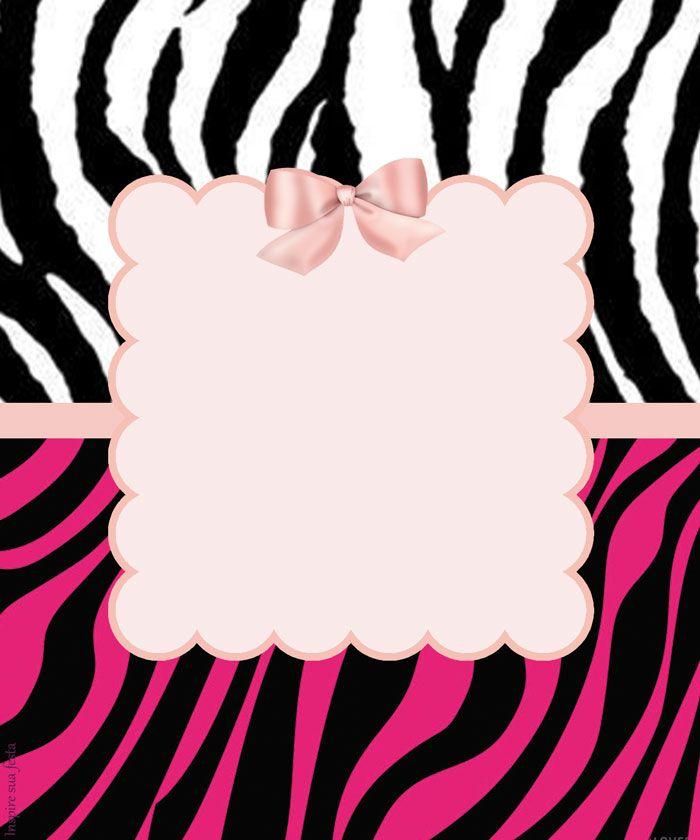 Zebra com rosa – Kit festa grátis para imprimir – Inspire sua Festa ...