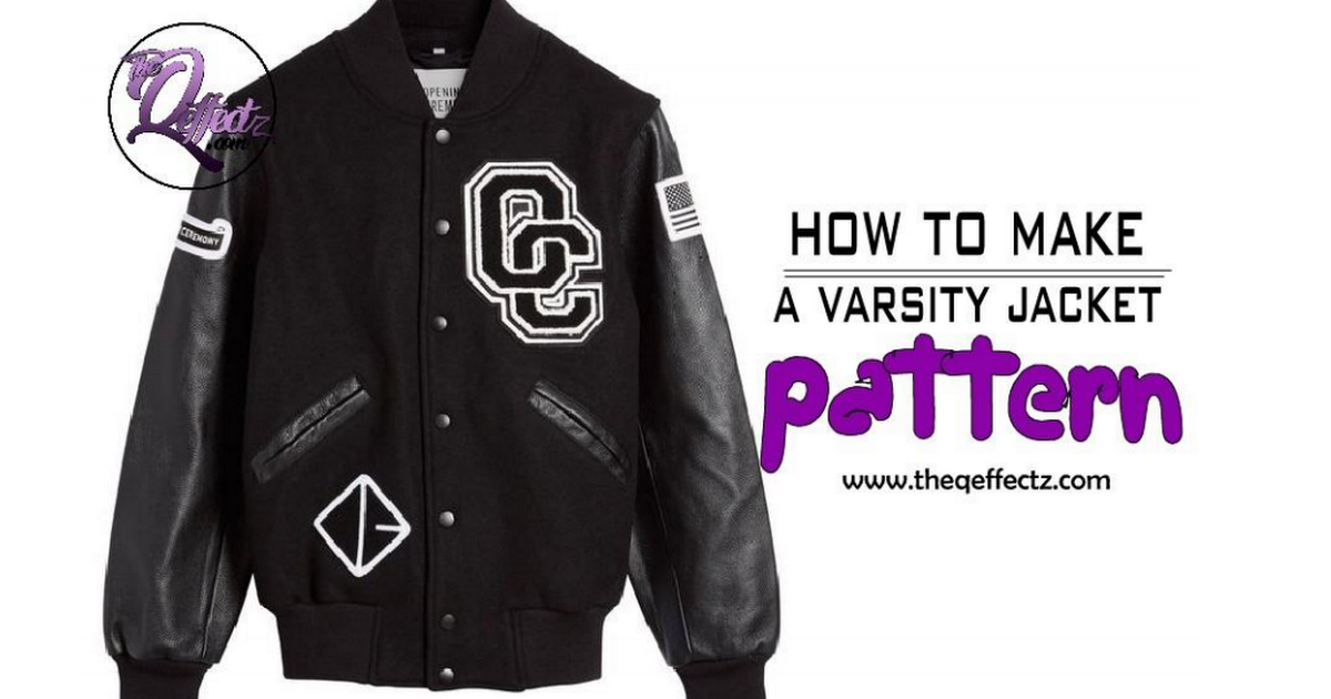 How To Make A Letterman Varisty Bomber Jacket Pattern Pdf Jacket Pattern Sewing Jacket Pattern Patterned Bomber Jacket