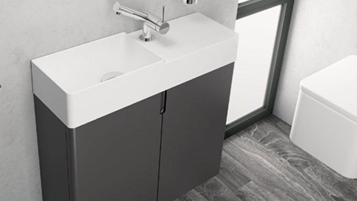 Ba o con lavabo peque o muebles de ba o en madrid for Muebles bano pequenos diseno
