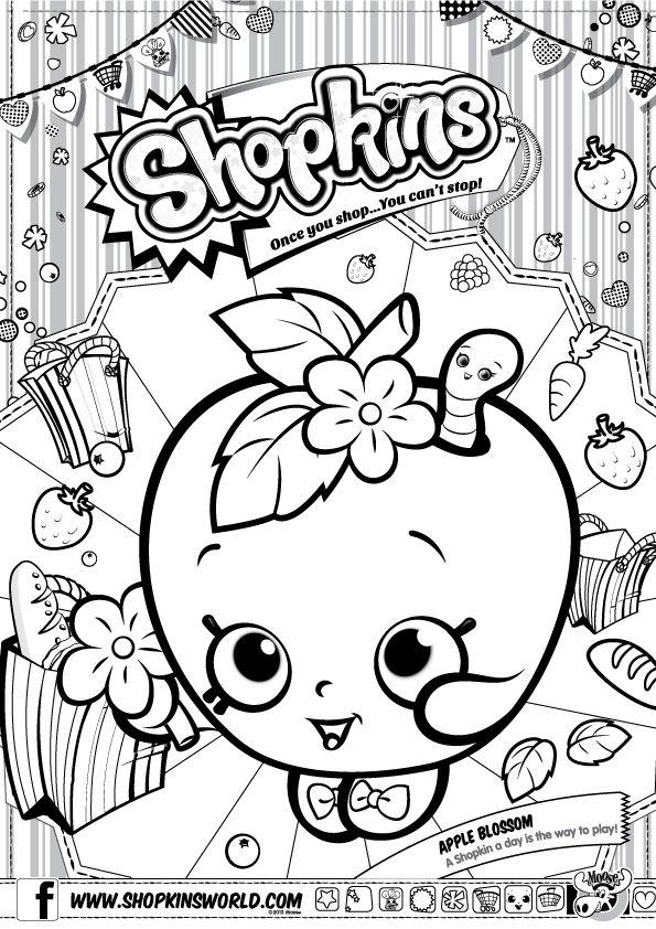 Need A Fun Activity To Do With Friends Color Apple Blossom In Funstuff Shopkins Shopkins Para Colorear Fiesta De Cumpleanos De Shopkins Shopkins Dibujos