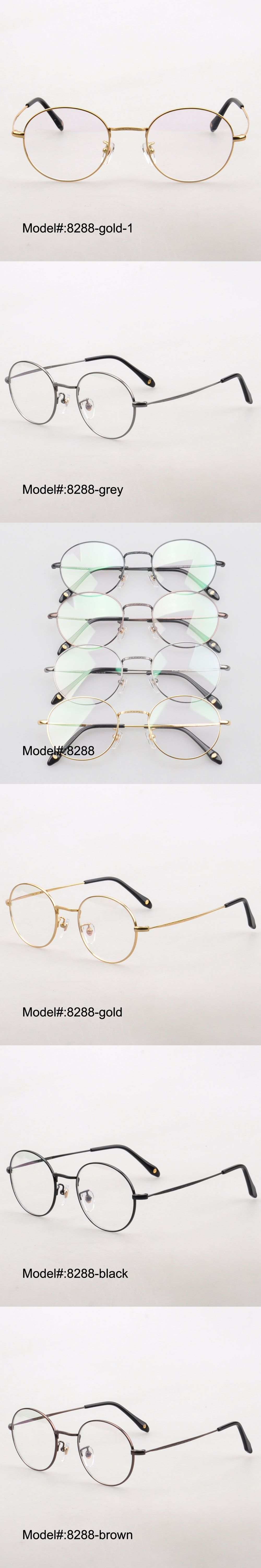Apparel Accessories Men's Glasses Unisex Retro Fashion Full Rim Round Frame Pure Titanium Clear Lens Myopia Eyewear Brand Gold Silver Optical Goggle Eyeglasses