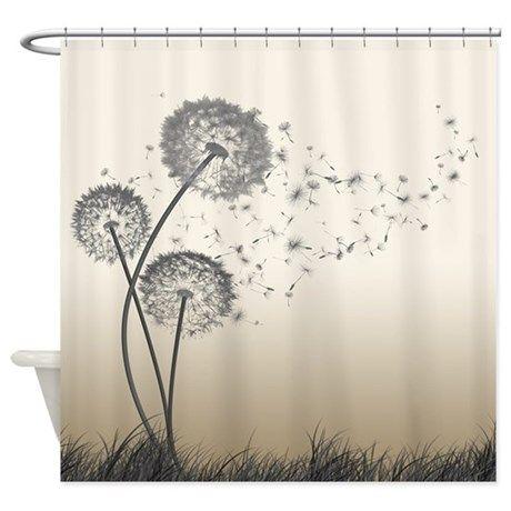 Dandelion Wishes Shower Curtain By Dolphin Bathroom Shower
