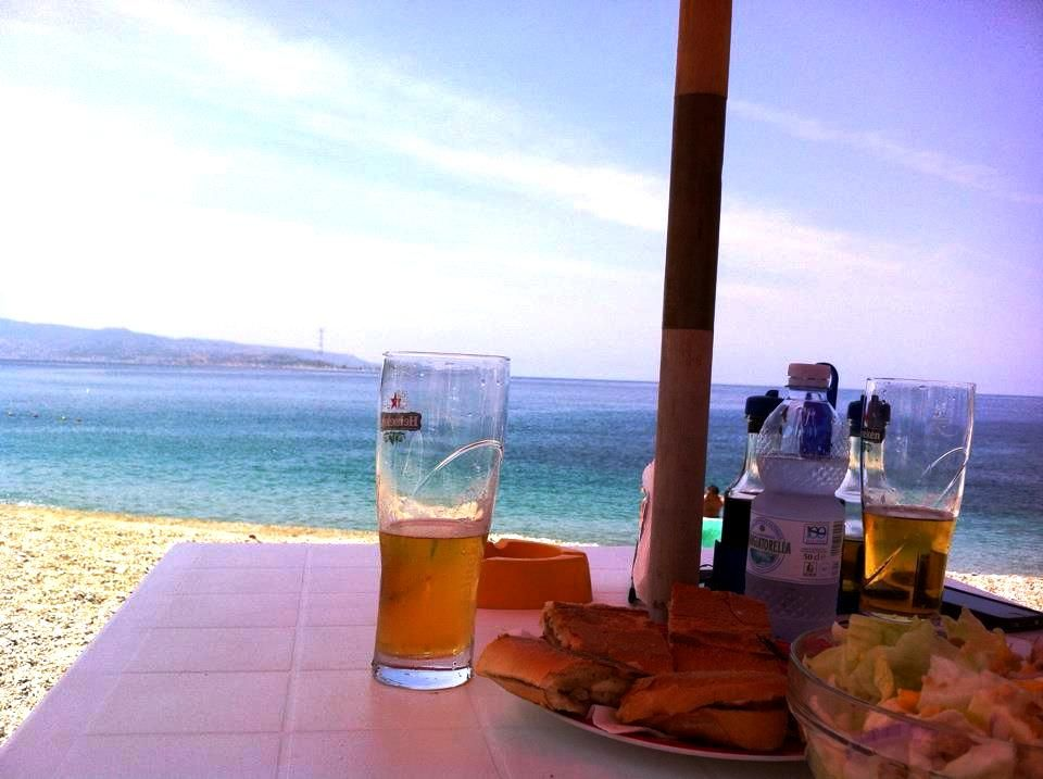 Panino and beer with a view!