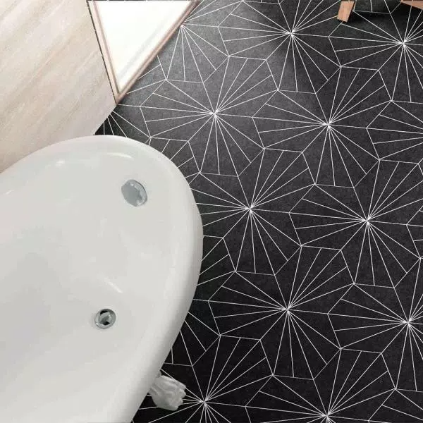 Merola Tile Take Home Sample Aster Hex Nero 9 7 8 In X 5 Porcelain Floor And Wall S1fcdasnx The Depot 2021 Tiles Flooring