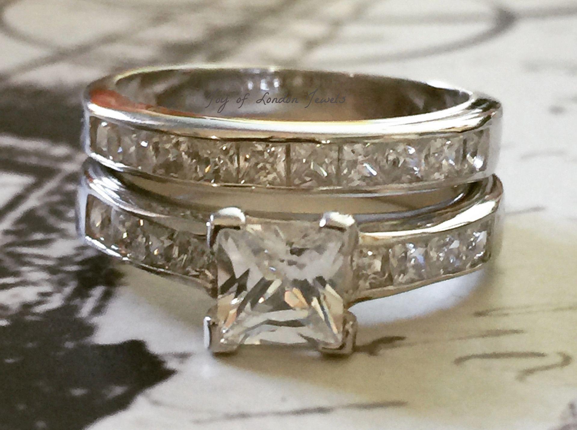 A Perfect 1 2CT Princess Cut Russian Lab Diamond Channel Set