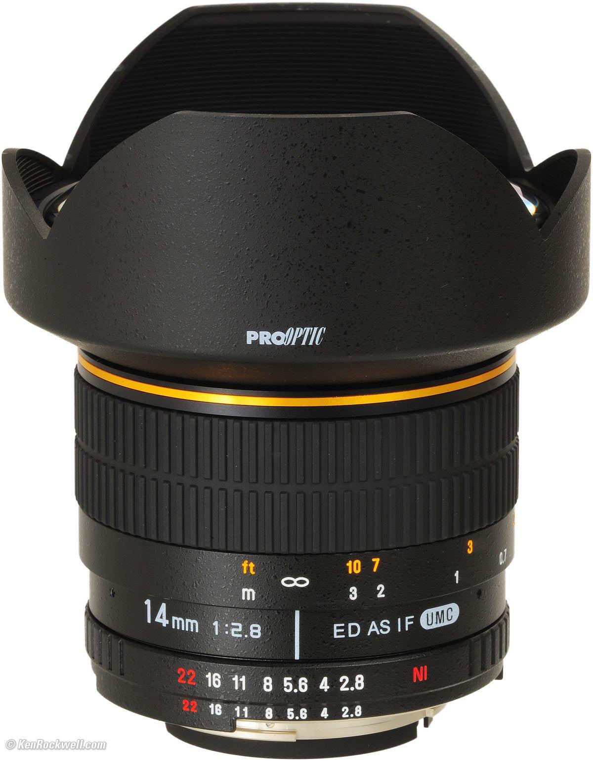 14mm F 2 8 Samyang Pro Optic Rokinon And Bower Lens 14mm Camera Lenses