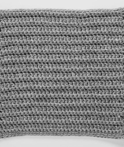 Back Loops Square For Checkerboard Textures Throw Crochet Pattern