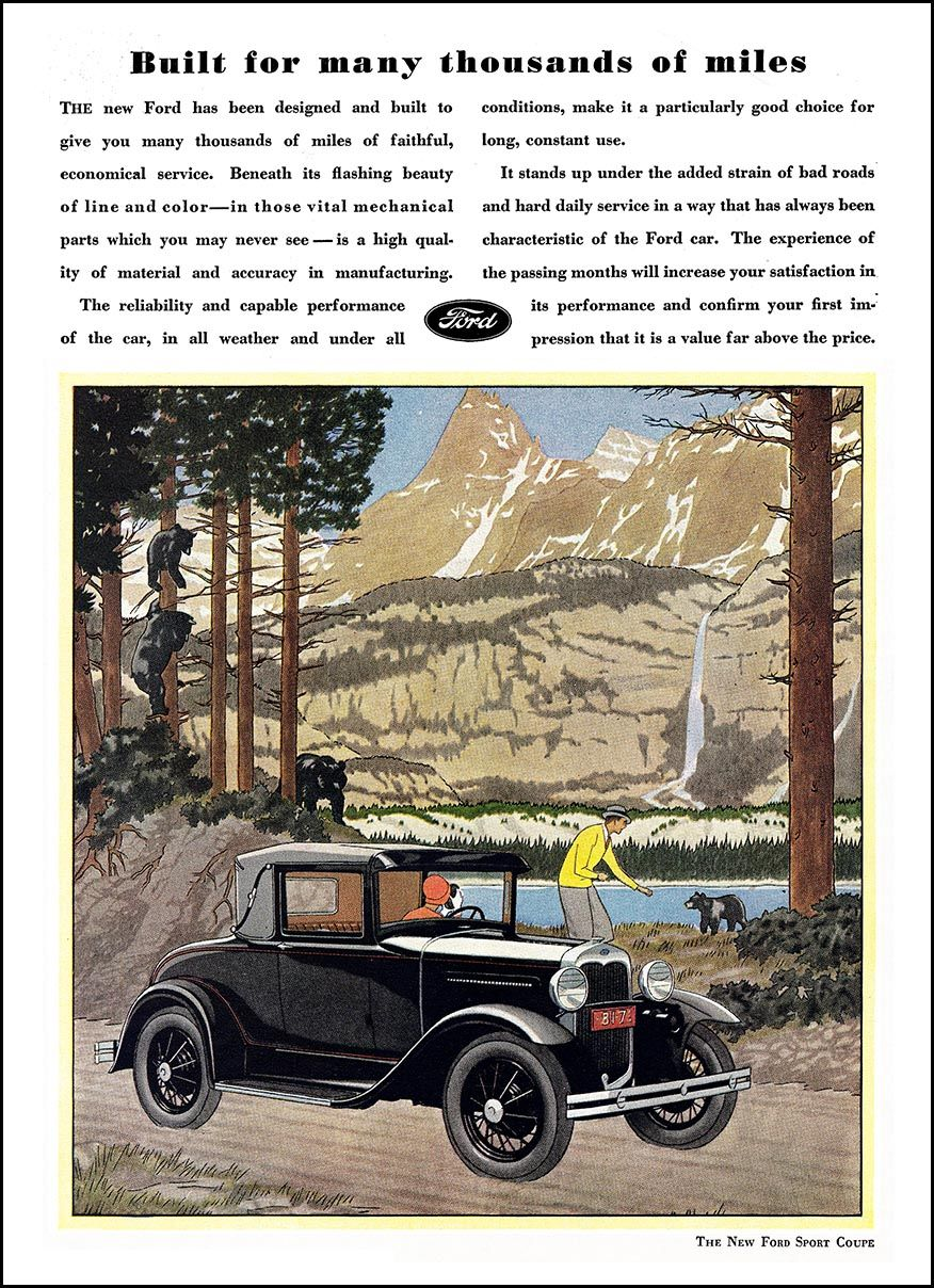 1930 Ford Model A Ad \