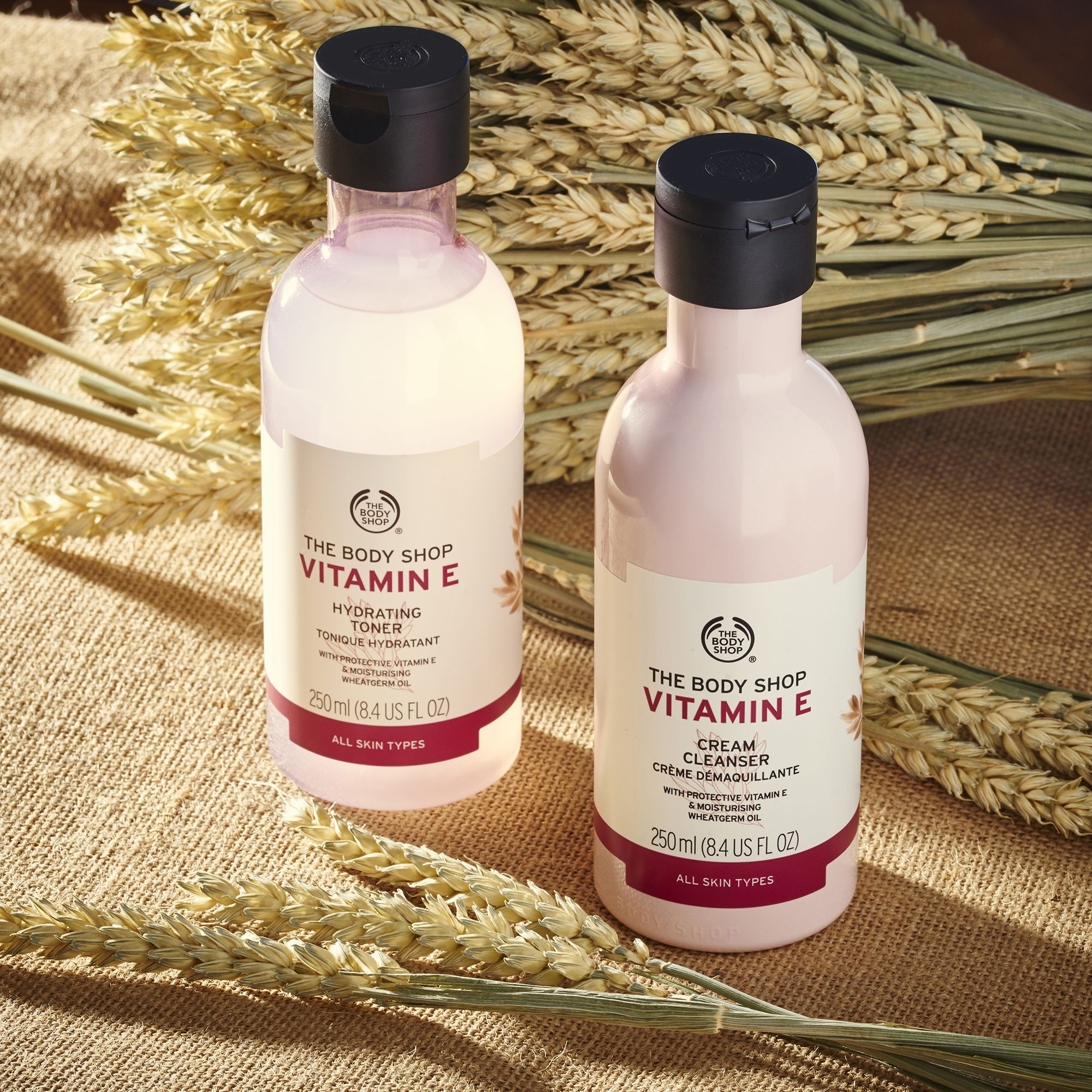 A Light Creamy Cleanser With Protective Vitamin E And Moisturising Wheatgerm Oil That Effectively Removes I Body Shop Skincare The Body Shop Body Shop At Home