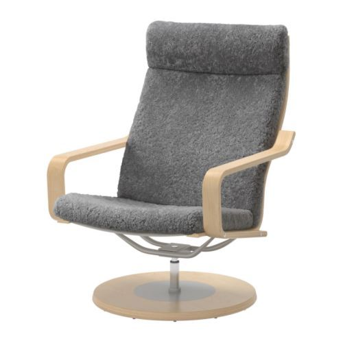 Admirable Poang Swivel Chair Lockarp Gray Ikea For The Home Bralicious Painted Fabric Chair Ideas Braliciousco