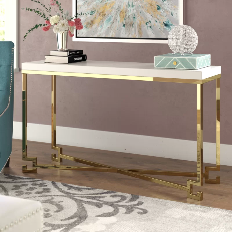 Sophia 53 Console Table In 2020 Dining Room Console Table Console Table Mirrored Console Table