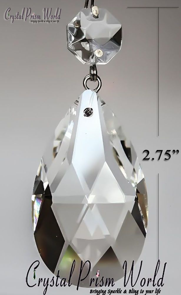 25pc Replacement Clear Teardrop Chandelier Crystals Hanging Prisms