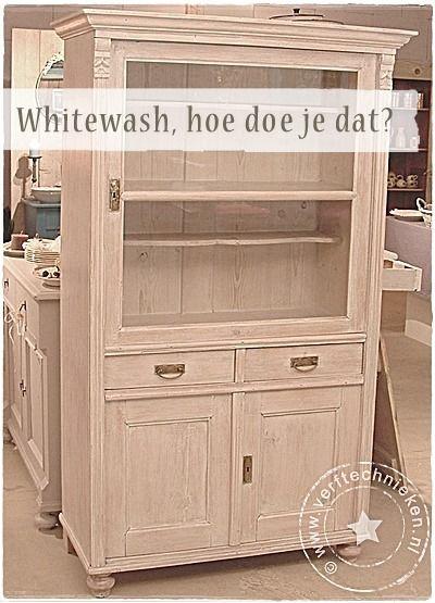 Diy Whitewash Wwwverftechniekennl Painting Tips Kast