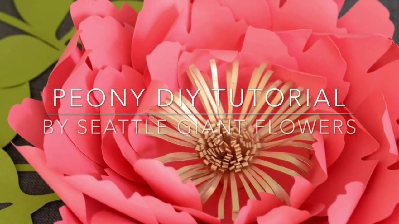 Peony Paper Flower Diy Tutorial By Seattle Giant Flowers Youtube