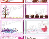 Valentine Lunch Box Notes - Valentine's Day PRINTABLE - PDF