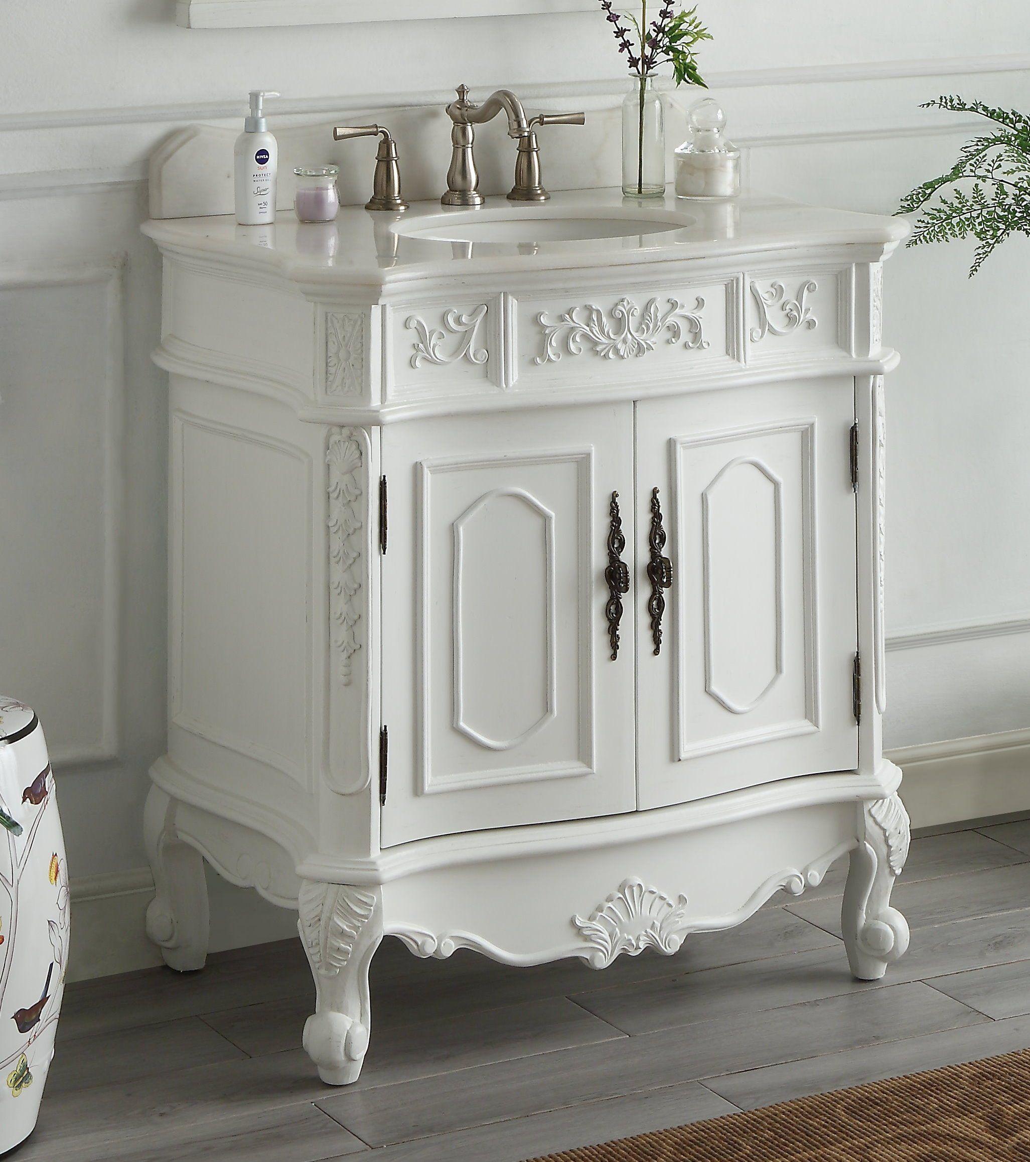 48 Inch Bath Vanity, Adelina 64 Inch Antique White Double Bathroom Vanity Vozeli Com
