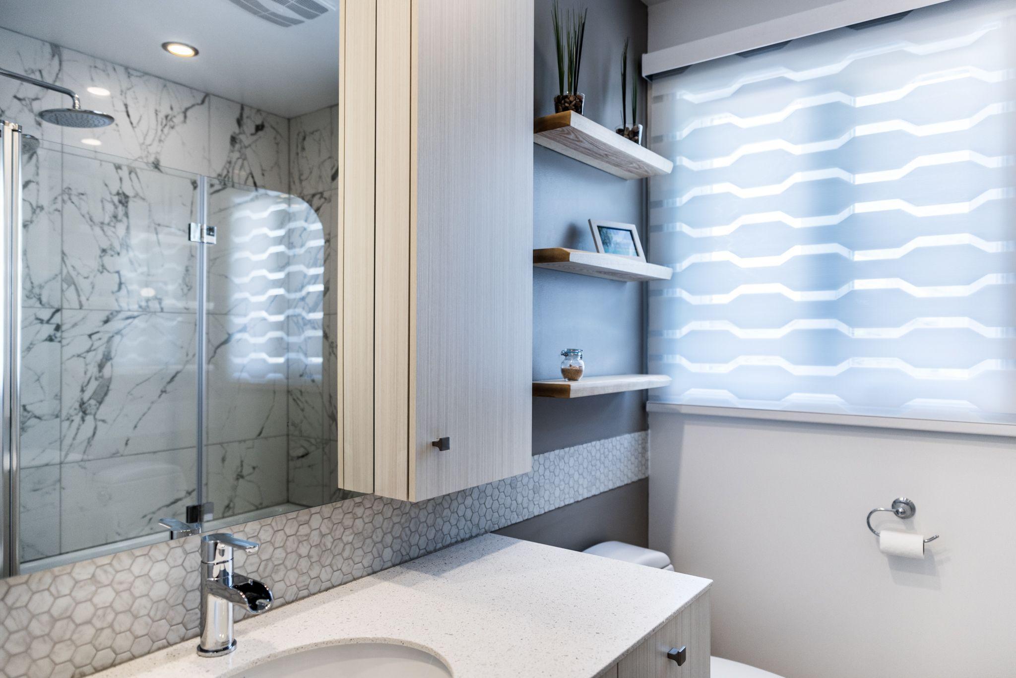 Salle De Bain Marron Et Vert ~ projet de salle de bain m lange entre un style contemporain et