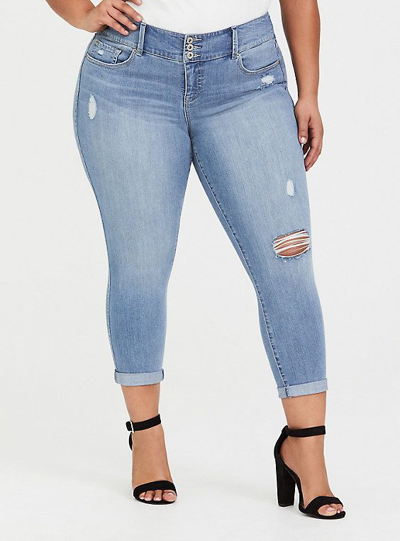 0b332806d76eef Premium Stretch Crop Jegging - Light Wash in 2019 | Products | Jeans ...