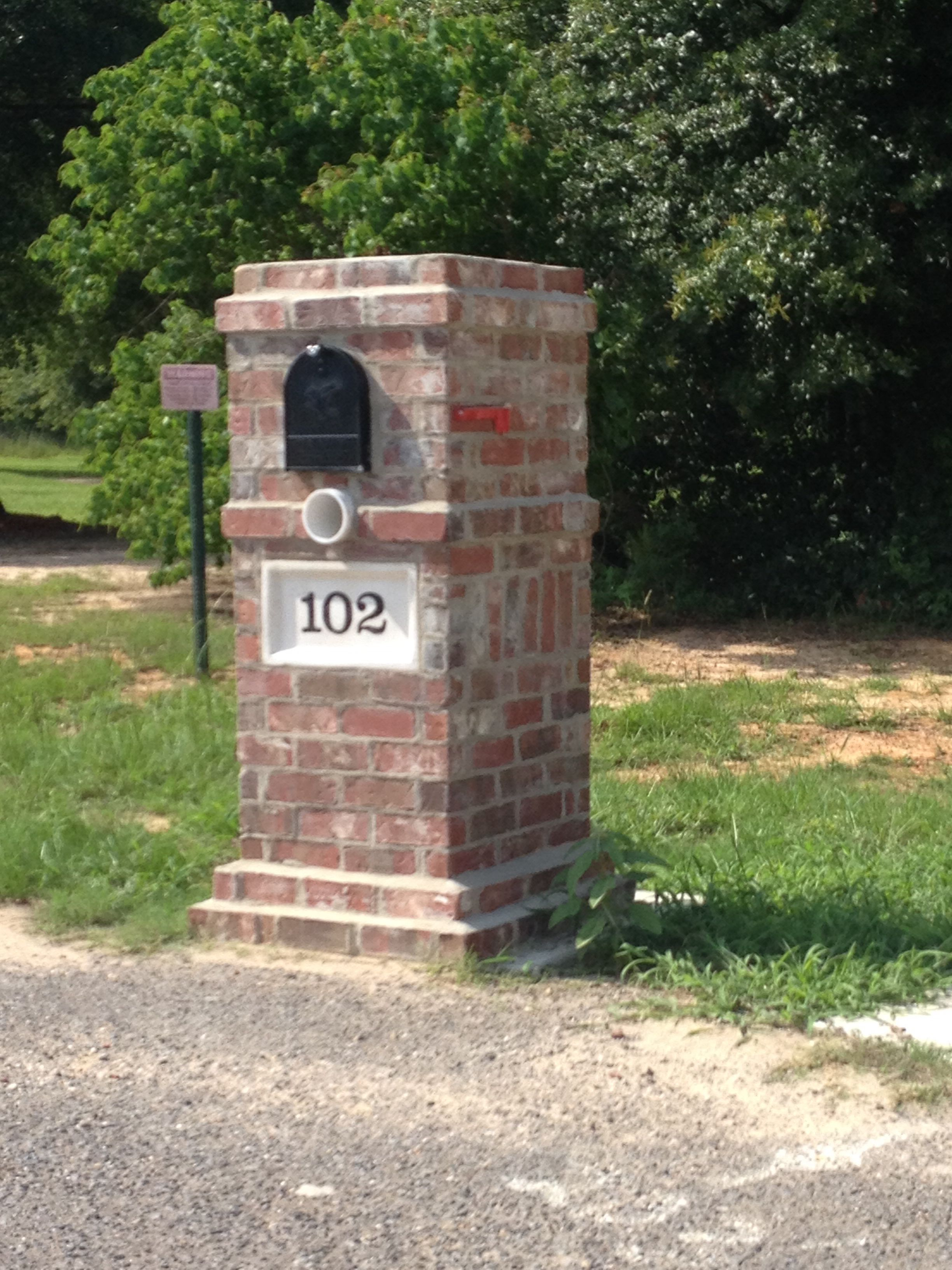 Brick Mailbox Design Ideas
