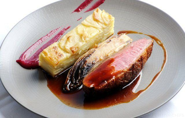Gressingham Duck Breast, Potato Dauphinoise & Chicory Recipe.  Valentines day dinner sorted