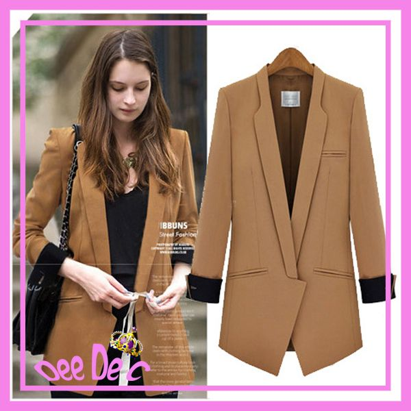 Aliexpress.com : Buy Top Quality Western Style Suit Autumn Fashion Temperament Medium style Cultivate Show Thin Jaket Women's Suit S XL Free...