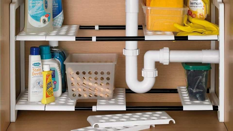 Mrs Hinch Inspired This Under Sink Storage And It Ll Change Your Life News Break Under Sink Storage Sink Storage Under Sink