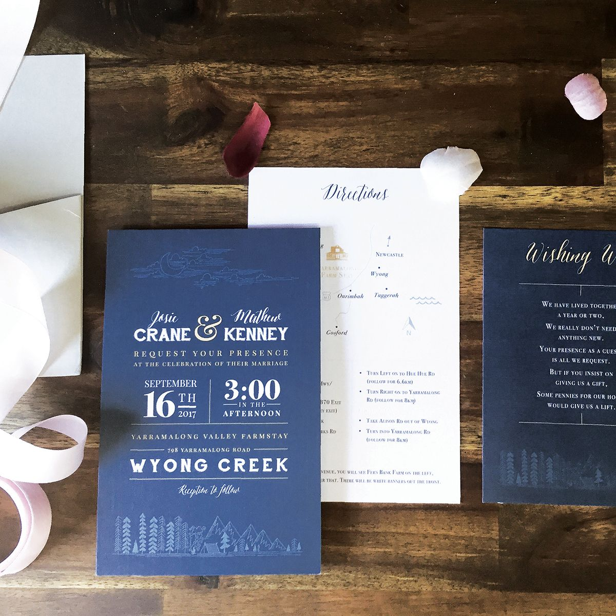 Custom Wedding Invitation Suite Rustic Country Wedding Invitation