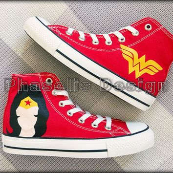 910f50d7e524 Wonder Women Custom Converse   Painted Shoes