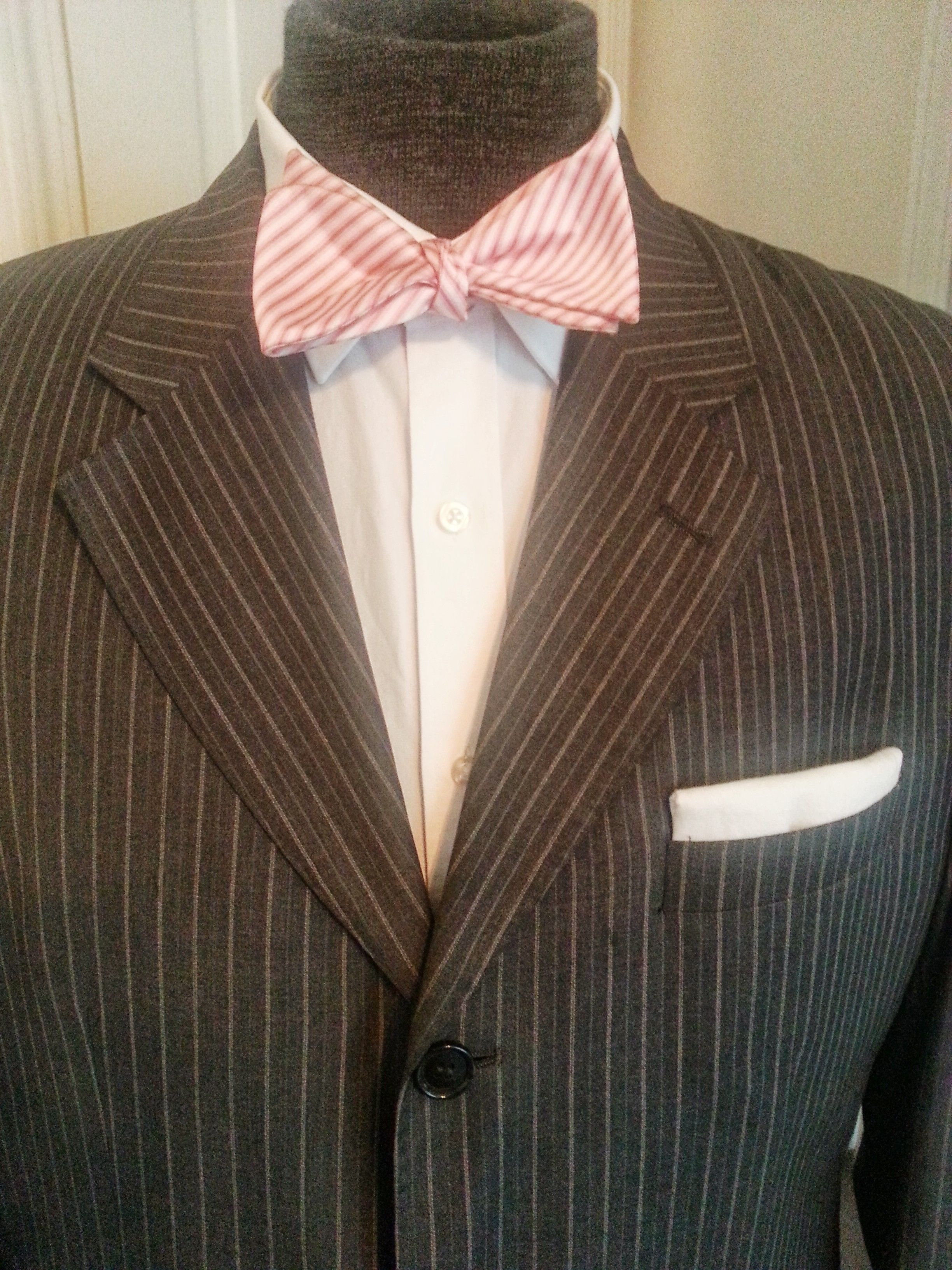 Grey, Pink, and white, Pocket square