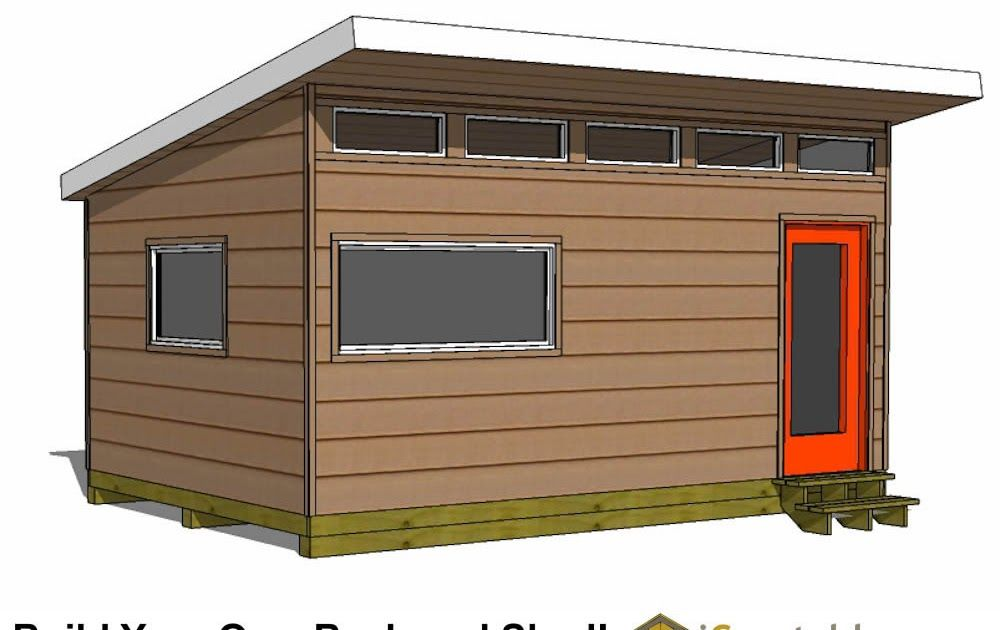 Modern Shed Plans Modern Diy Office Studio Shed Designs 12x16 Shed Plans Professional Shed Designs Easy Instructions In 2020 Modern Shed Shed Plans 12x16 Shed Design
