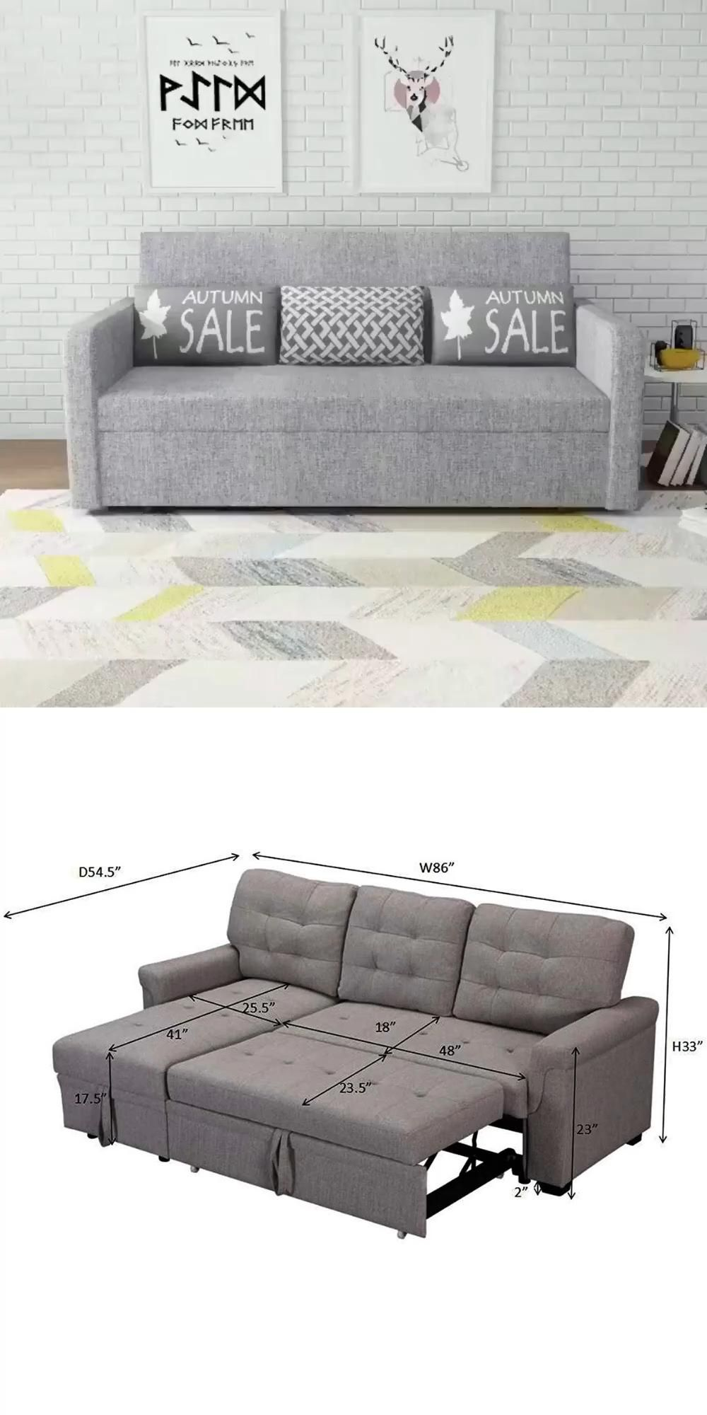 Reversible Sleeper Sectional Sofa Bed Storage