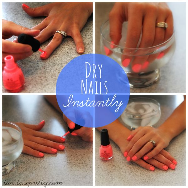 I Ll Have To Try This One And See If It Works How To Make Your Nail Polish Dry Fast Dry Nails Dry Nails Instantly Dry Nails Fast