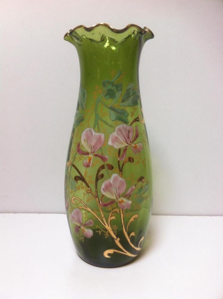 vase verre collerette maill relief d cor floral legras montjoye art nouveau art vases. Black Bedroom Furniture Sets. Home Design Ideas