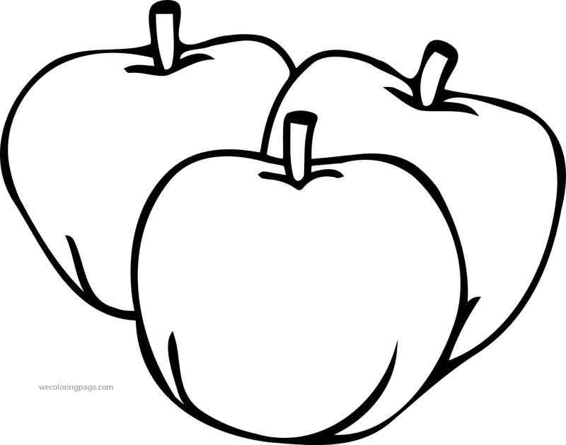 Just Three Apple Coloring Pages I 2020 Skabeloner