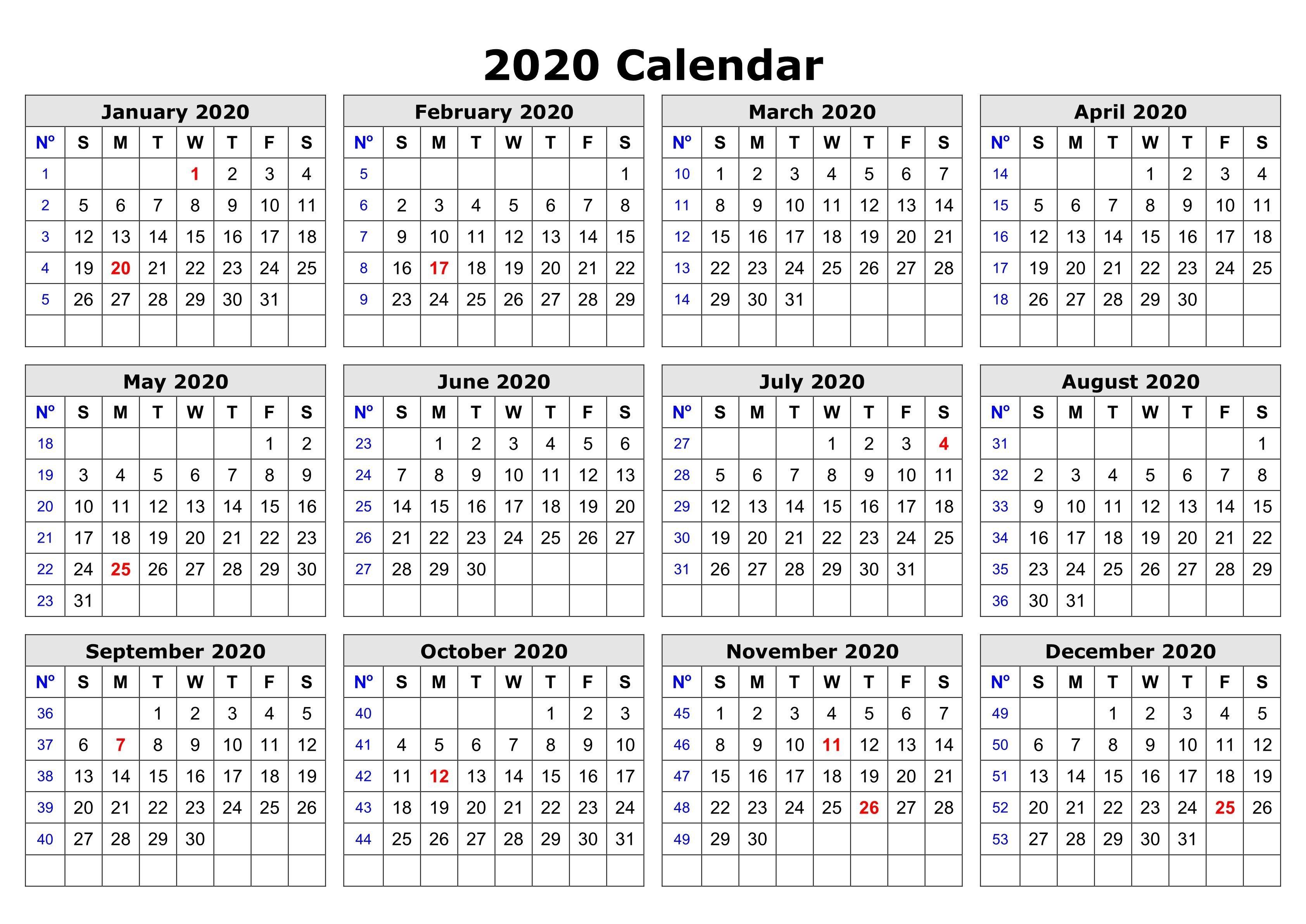 Printable Schedule Calendar 2020 In 2020 Printable Calendar