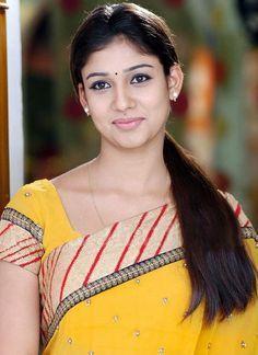 Nayanthara Sexy In Yellow Saree Nayanthara