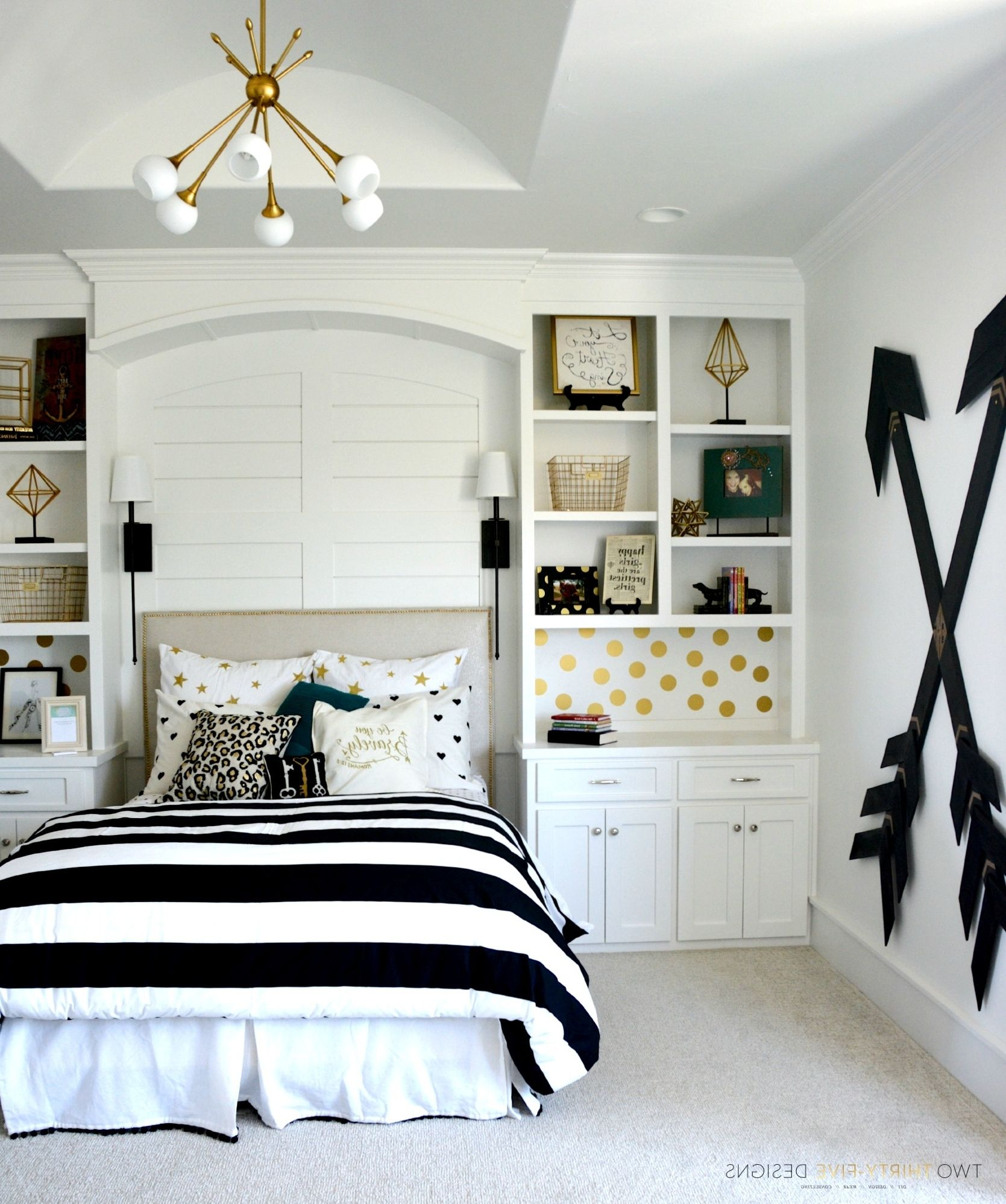 Black and gold teen bedroom ideas galleryhip the hippest - Teen girl room decor ...