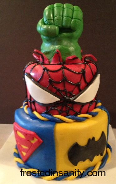 Superhero Birthday Cake Pictures Frosted Insanity Super