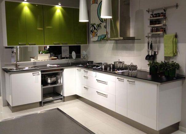 l-shaped white color kitchen cabinet | kitchen design | pinterest