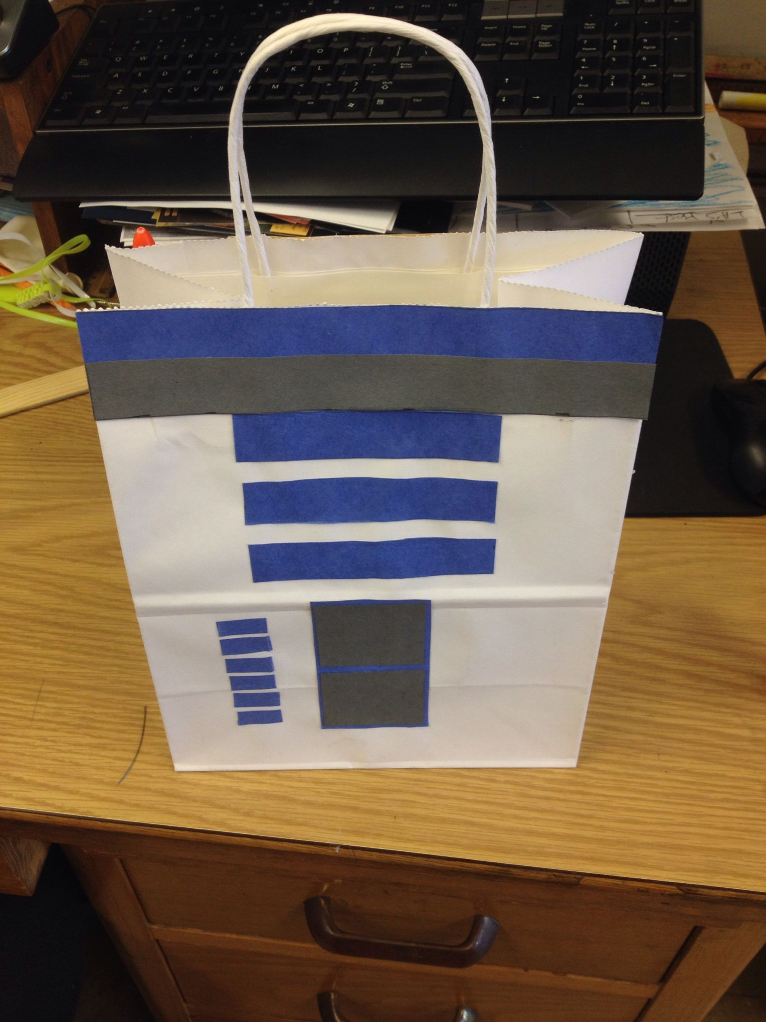 Homemade Star Wars Gift Bag Made By Moi R2D2